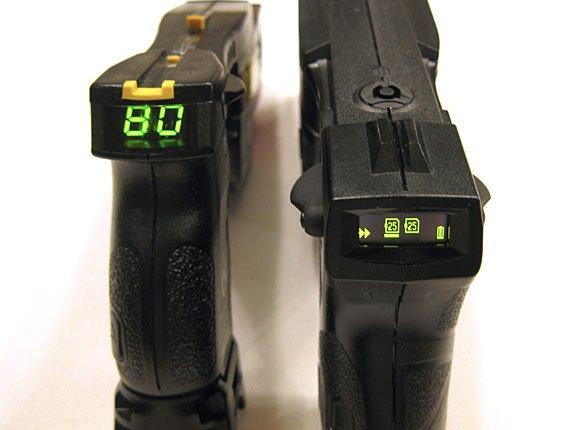 Taser X2 and Taser X26 Displays