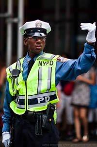 police direct traffic