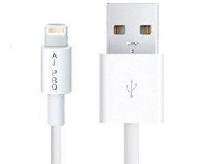 "The iPhone 5 USB charger. The computer plug-in on the right is 0.50"" wide."