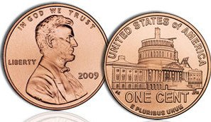 "A one cent penny is 0.75"" in diameter."