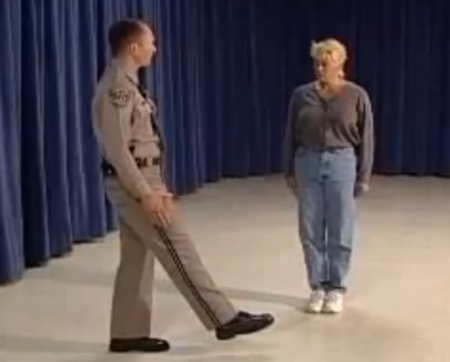 This officer does a good job demonstrating the OLS.