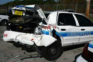 patrol car crash