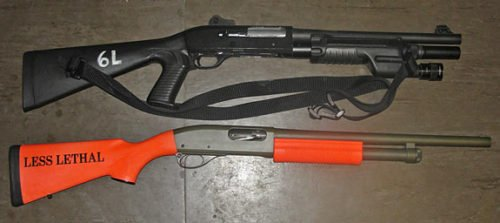 Less Lethal Launcher and Normal Shotgun