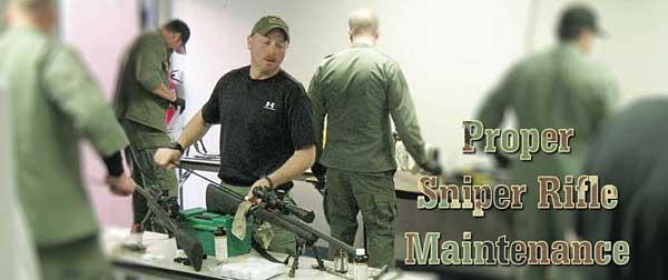 sniper rifle maintenance