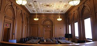 A courtroom of the U.S. 2nd Circuit Court of Appeals.