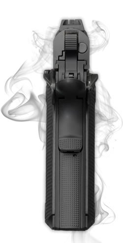 The traditional 1911 grip and manual safeties are a part of the 1911-380.