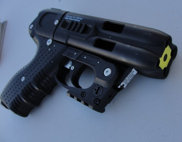 The JPX4 with Integrated Laser in front of the trigger guard.