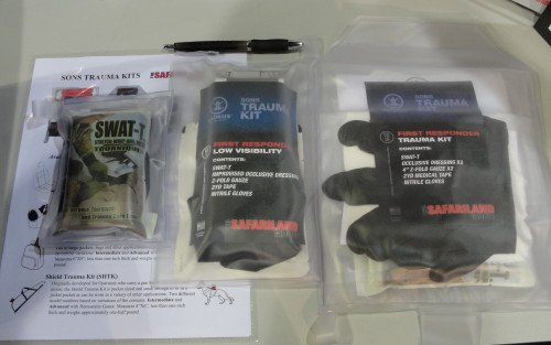 A side-by-side comparison of the (3) Son Trauma Kits reviewed here.