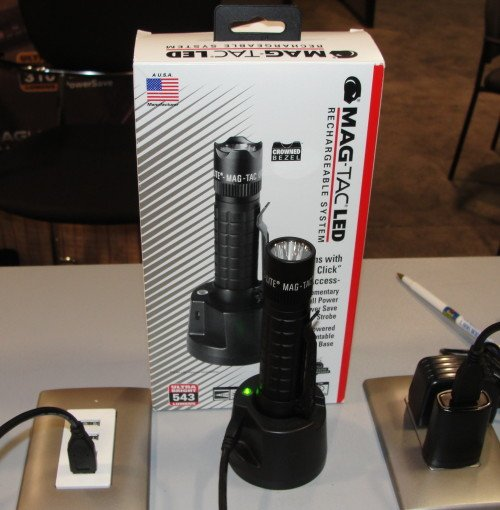 The new Maglite Mag-Tac rechargeable flashlight.