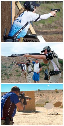 3-gun competition photo from NSSF