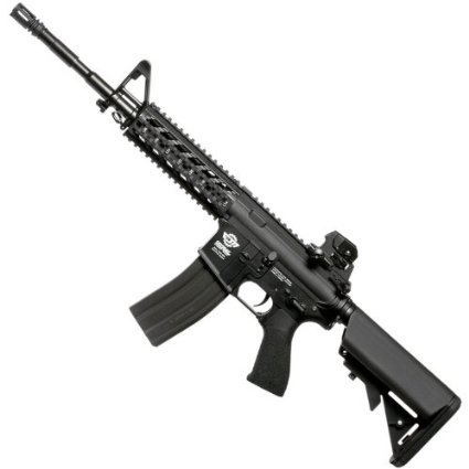 A G&G airsoft AR-15, made from metal, advertised on Amazon.com.