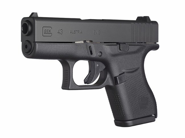 The new Glock 43. A sub-compact, single stack 9mm.