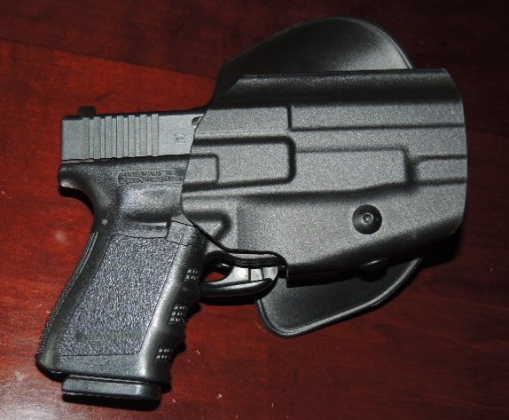The Safariland Model 578 GLS Pro-Fit Holster with the Author's Glock 23.