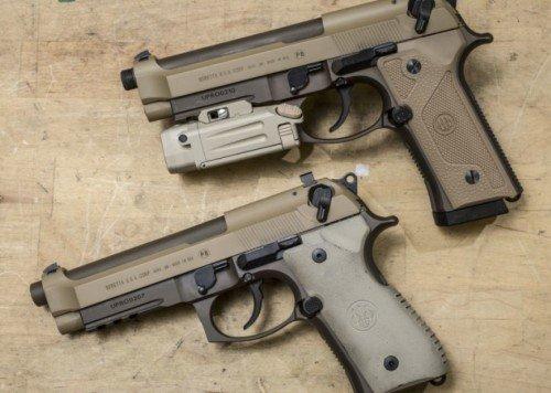 Even with upgrades the Beretta M9 appears to be out. (Picture from ArmyTimes.com)