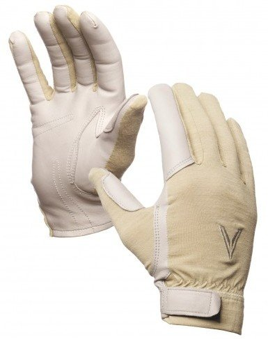 The leather palms and trigger finger provide a very secure grip.