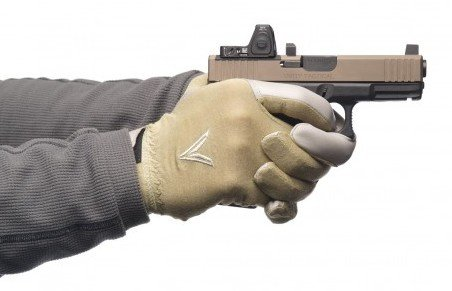 "The Velocity Systems Trigger Gloves fit snuggly in a ""Second Skin"" design."