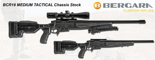 The BCR-18 Medium Tactical Rifle expands on the features of the BCR-17.