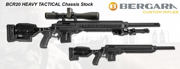 The Bergara BCR-20 Heavy Tactical Rifle is the top of the line offering.