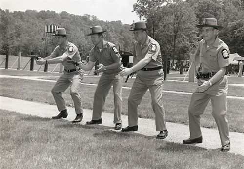 Police firearms training in the 1960's. (Photo from NRA).