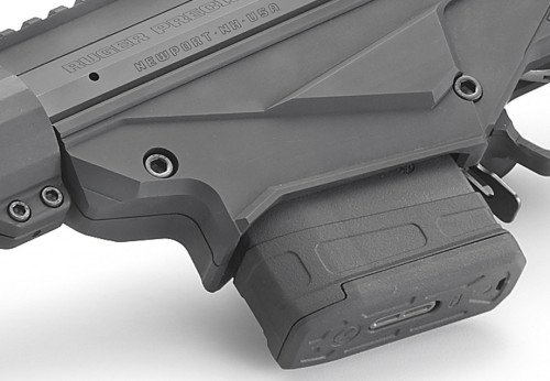 Ruger's adaptive magazine well will accept a variety of magazines.