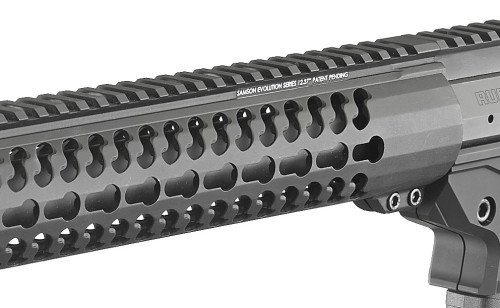 A Sampson Evolution key mod hand guard with full Picatinny rail is another great feature.