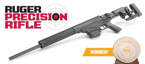 Ruger Precision Rifle - winner of the very prestigious 2015 Golden Bullseye Award for best new rifle.