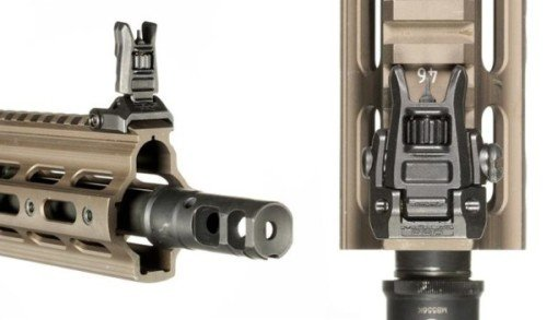 The Magpul MBUS Pro enhanced front sight post offers precision and standard sight widths.