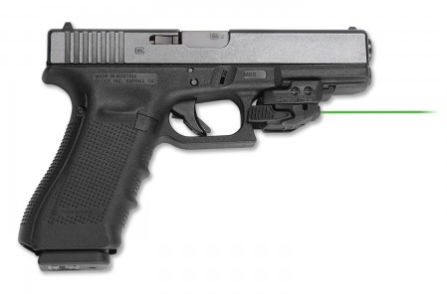 The CMR-206 mounts easily to the Glock's Picatinny rail.