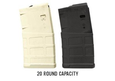The Magpul PMAG 10 LR/SR 20-round magazines also come in black, and the new Magpul sand color.