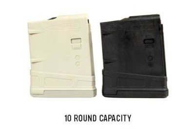 The new Magpul PMAG 10 comes in black, and the new Magpul sand color.