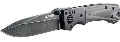 The Ruger All-Cylinders folding knife with drop-point razor blade.