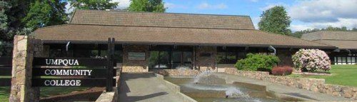 One of the buildings on the Umpqua campus.