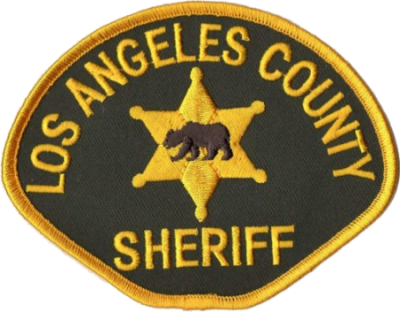 The patch of the LA County Sheriff's Department.