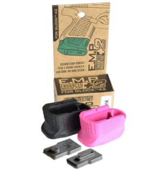 The S.I. (E.M.P.) for the Glock 42 comes in black or pink (photo Strike Industries).