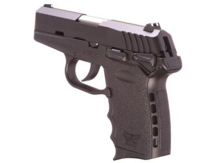 """The CPX-1 showing the integrated """"Recoil Cushion"""" frame (photo by SCCY)."""