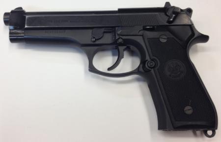 A LASD Beretta 92 (photo by LA County OIG).