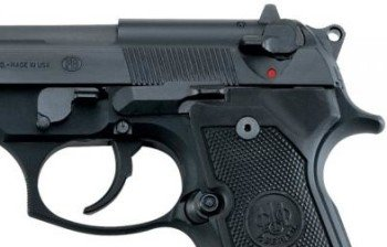 The external safety lever on the Beretta 92.