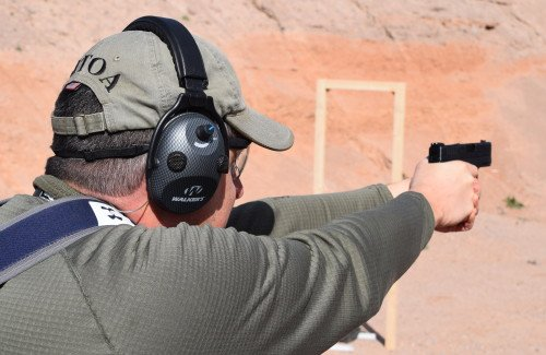 Sight alignment was easy with the fiber optic front sight, and recoil was very manageable allowing rapid follow-up shots.