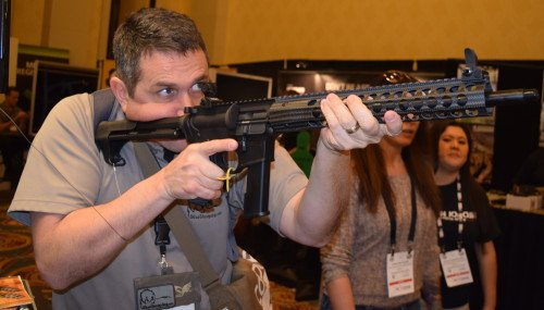 The Troy M5 9mm Rifle felt very good in my hands.
