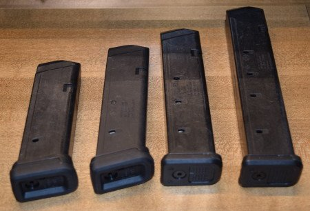 All (4) Magpul GL9 Pmags in order of capacity.