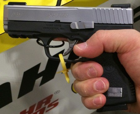 Grips are aggressive on front and back, but subdued on the sides.