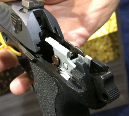 Coated trigger group and critical internal parts makes the PX4 Compact Carry action much smoother.