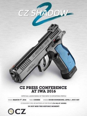 The new CZ Shadow 2 will be officially revealed at the IWA Show next month in Germany (photo by CZ)