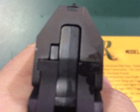 The RM380 sights are very low profile, but not uncommon with CCW pistols.