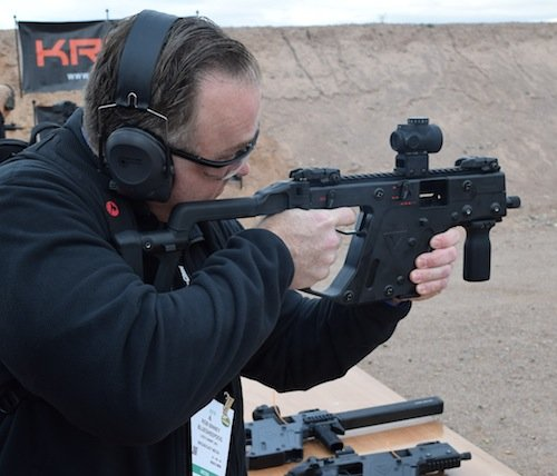Here Rob shoots the select fire Vector Gen II SMG.