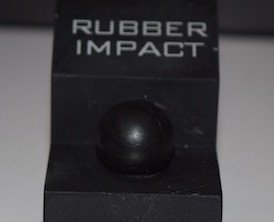 PepperBall also provides rubberized impact projectiles.