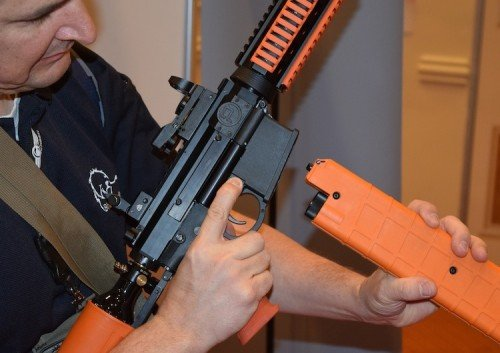 The PepperBall P4 VKS offers an AR-15 style magazine option.