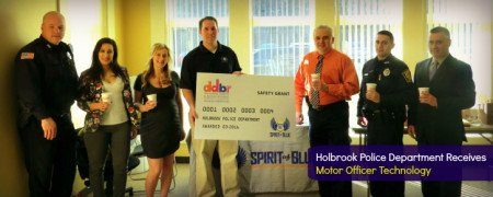 Holbrook Police receive grant for motor officer technology.