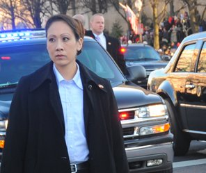 Here Secret Service Agents are on dignitary protection (photo by Secret Service).