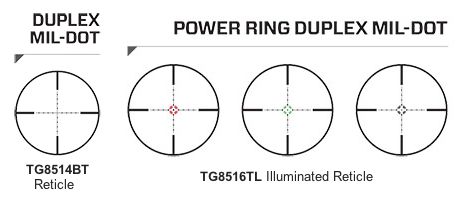The TRUGLO Tru-Brite 30 Series reticles.